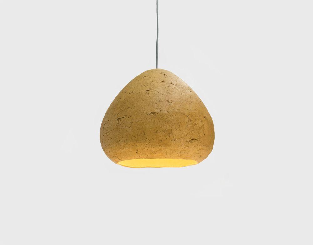 Morphe II paper mâché ceiling lamp by Crea-Re Studio