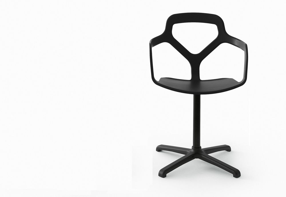 Trace Dining Chair - Swivel Base by Desalto