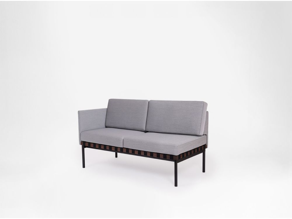 Grid - 2 Seater Sofa With 1 Armrest by Petite Friture
