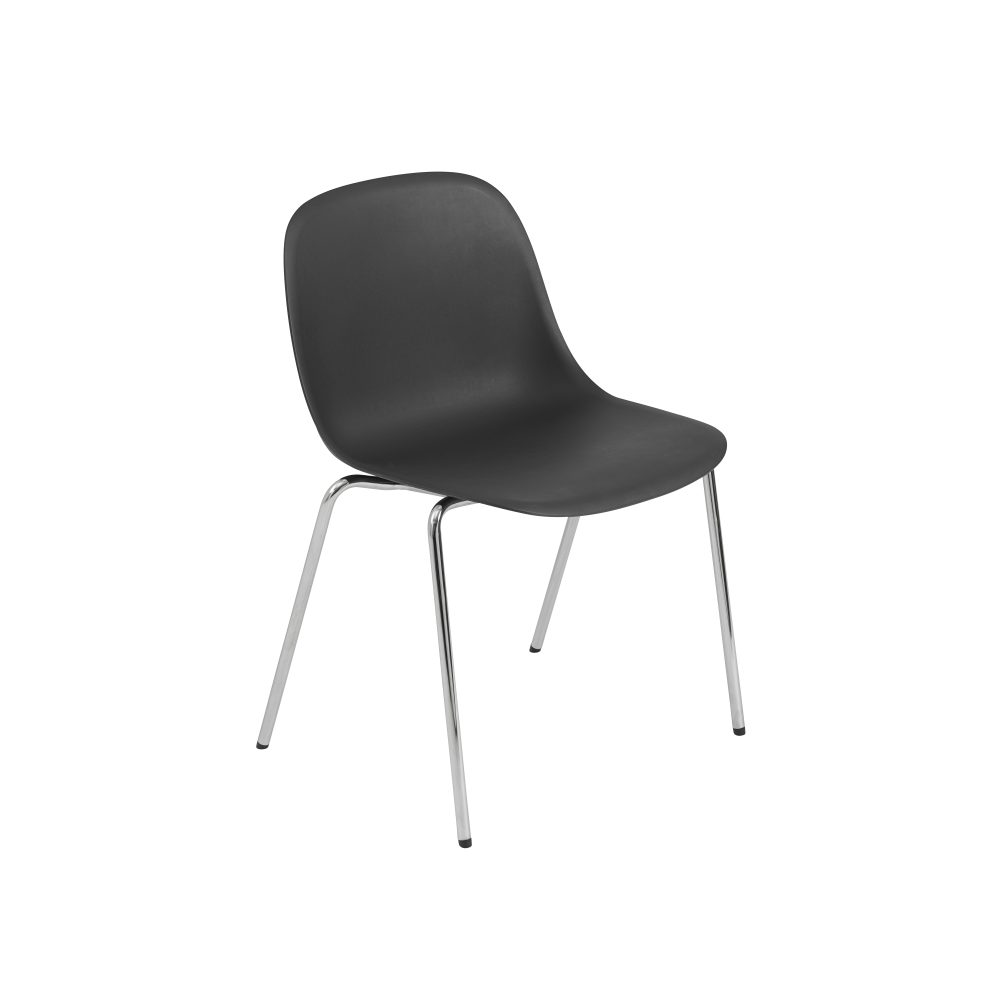fiber side chair a base with felt glides non upholstered black