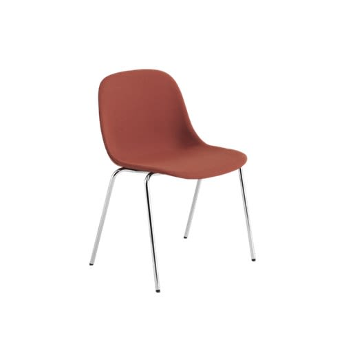 Fiber Side Chair / A-Base Upholstered Seat by Muuto