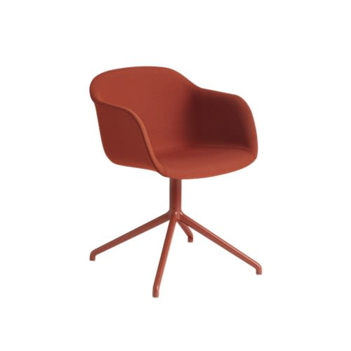 Fiber Armchair Swivel Base With Return - Upholstered by Muuto