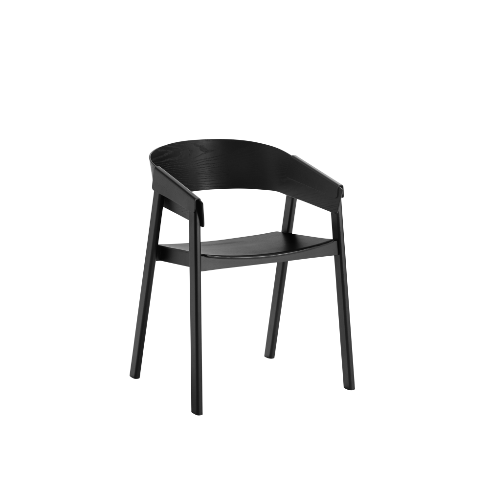 Cover Chair Wood Seat Black By Thomas Bentzen For Muuto
