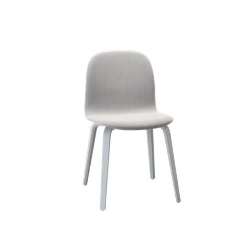 Visu Chair Wood Base - Textile Shell by Muuto