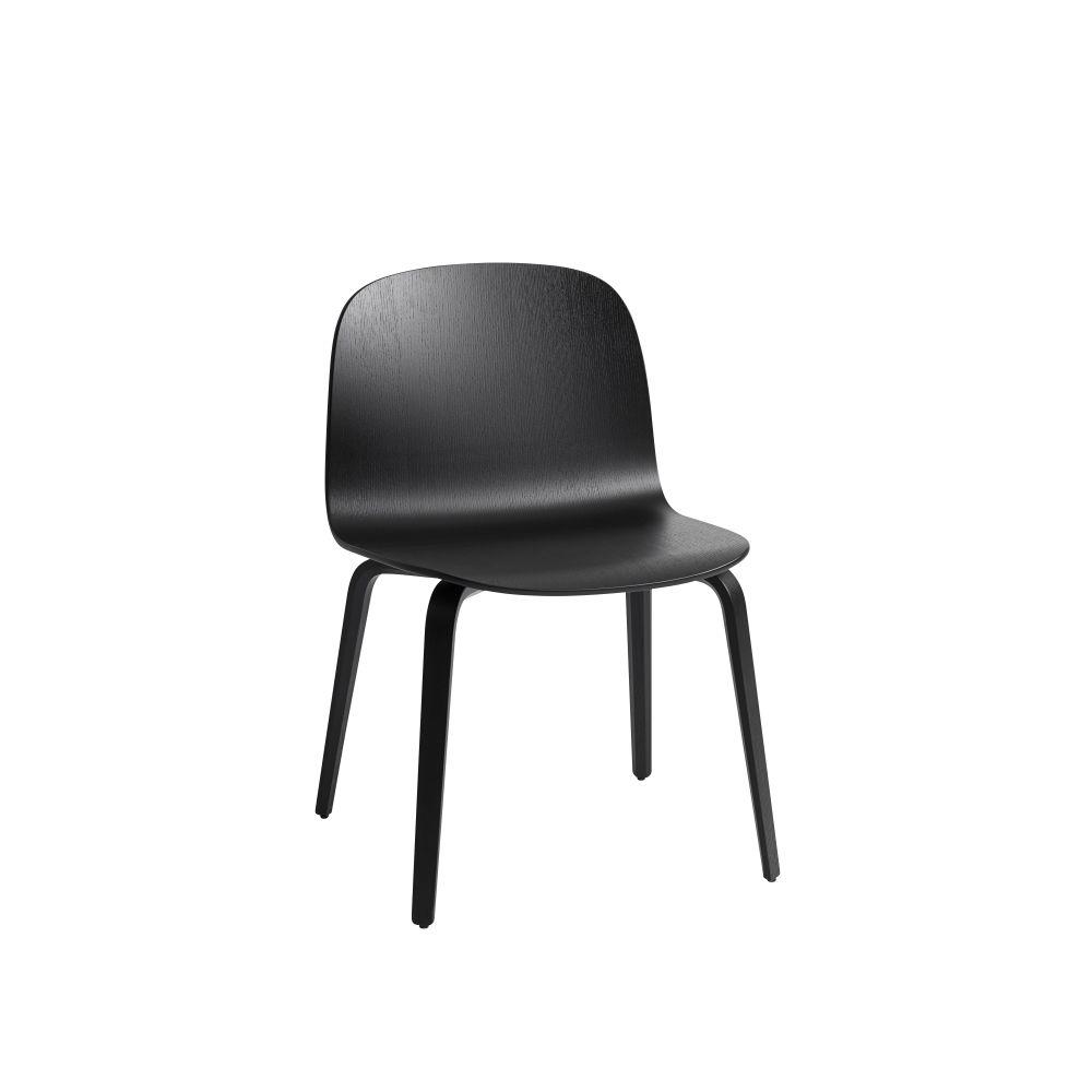Visu Wide Chair Wooden Base by Muuto
