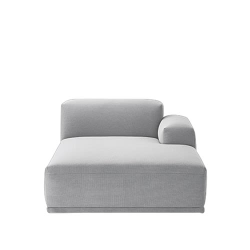 Connect Modular Sofa - Right Armrest Lounge by Muuto