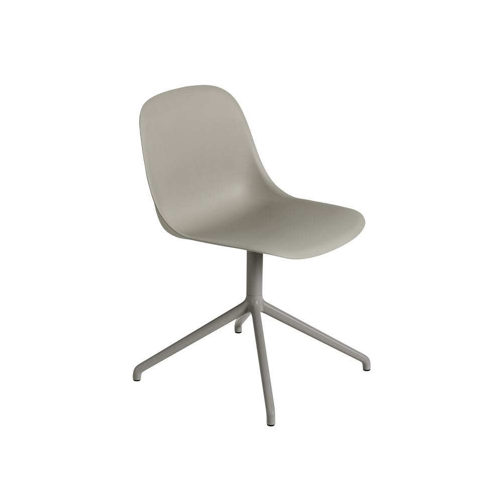 Fiber Side Swivel Base Chair With Return - Non Upholstered by Muuto
