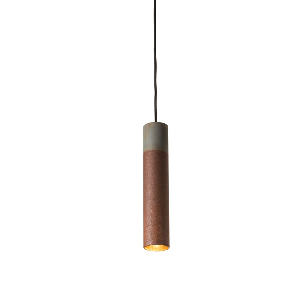 Roest Vertical Pendant Light - Zinc by Karven Lighting