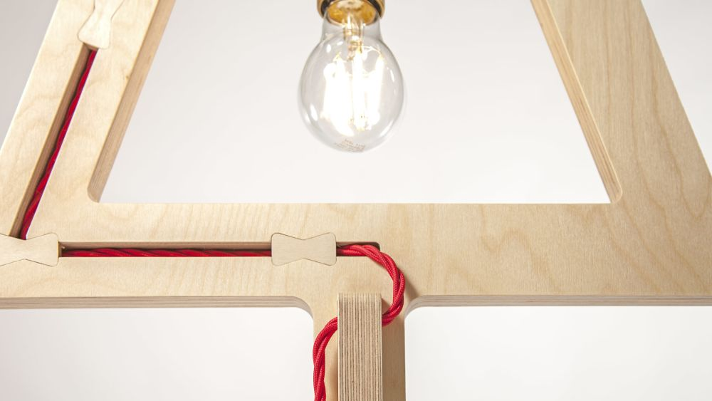 Symbol Table Lamp by Liqui Contracts