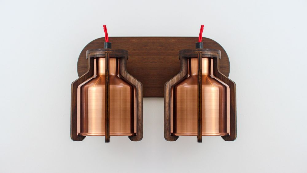 Cell Twin Wall Lamp by Liqui Contracts