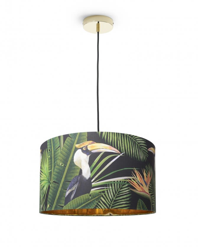 Birds of paradise drum pendant light by mind the gap aloadofball Image collections