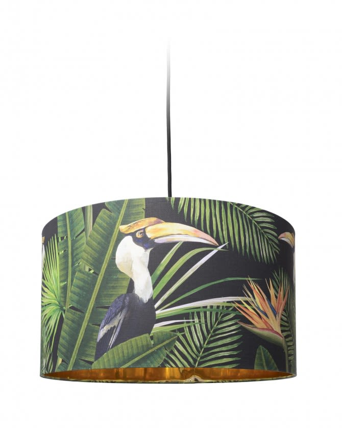 Birds of Paradise Drum Pendant Light by Mind The Gap