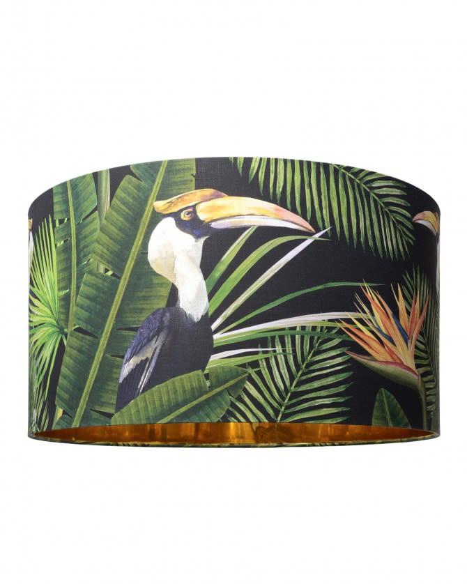 Birds of Paradise Drum Table/Floor Shade by Mind The Gap