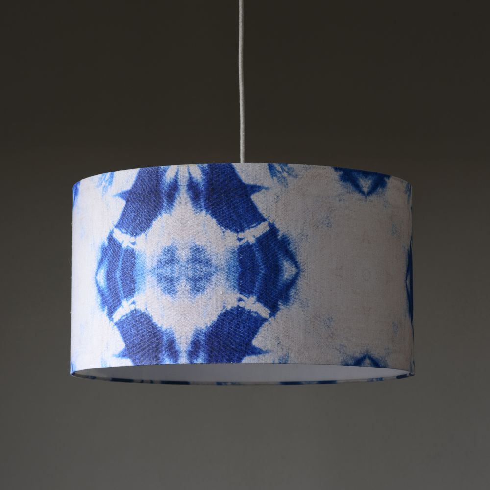pendant boutique rattan lamps drum espresso light knotted