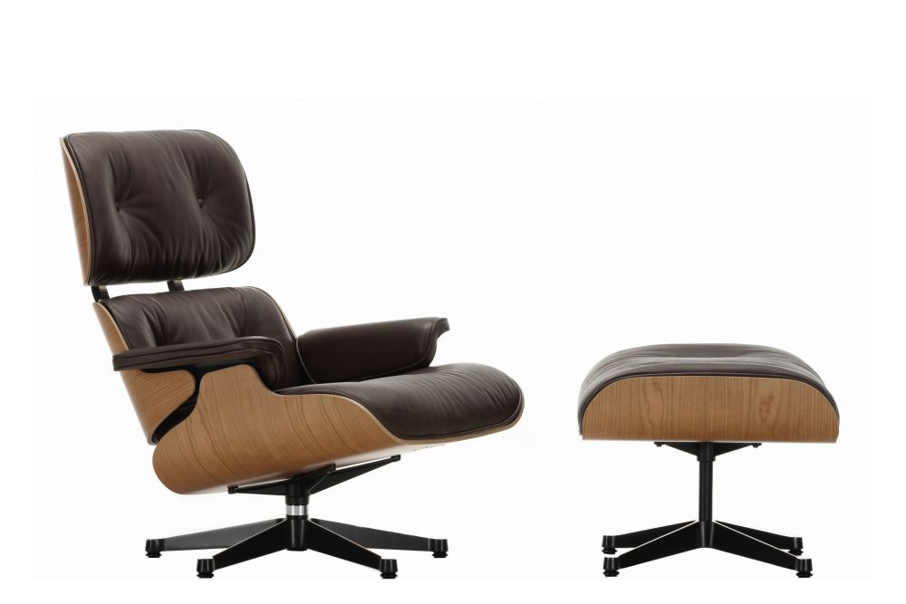 Vitra Eames Lounge Chair & Ottoman - American Cherry Shell by Vitra
