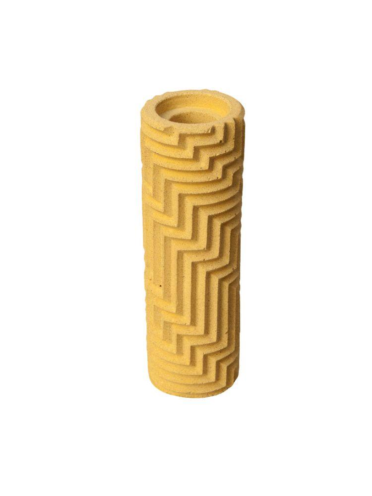 Herringbone Bud vase - Yellow by Phil Cuttance