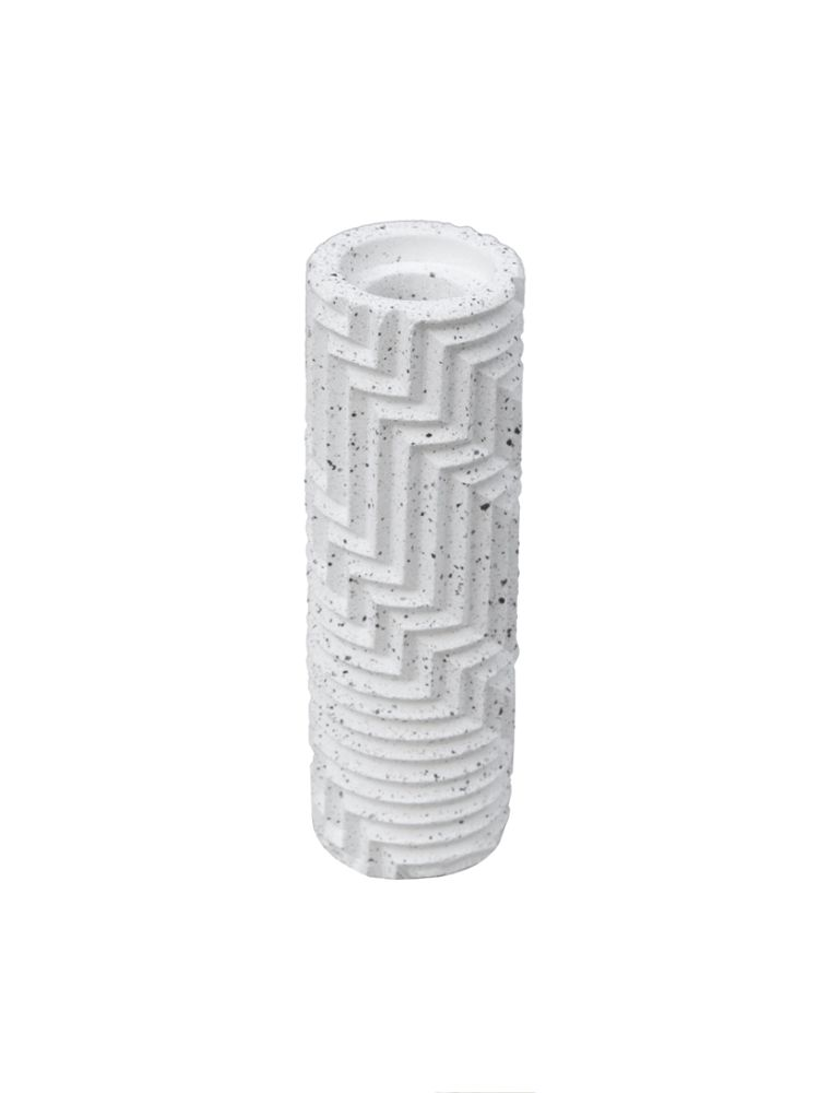 Herringbone Bud Vase - Granite by Phil Cuttance