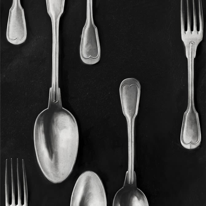 Cutlery Silver Wallpaper by Mind The Gap