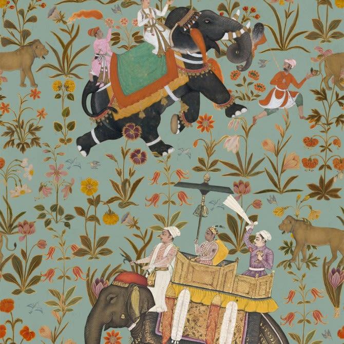 Hindustan Aquamarine Wallpaper by Mind The Gap