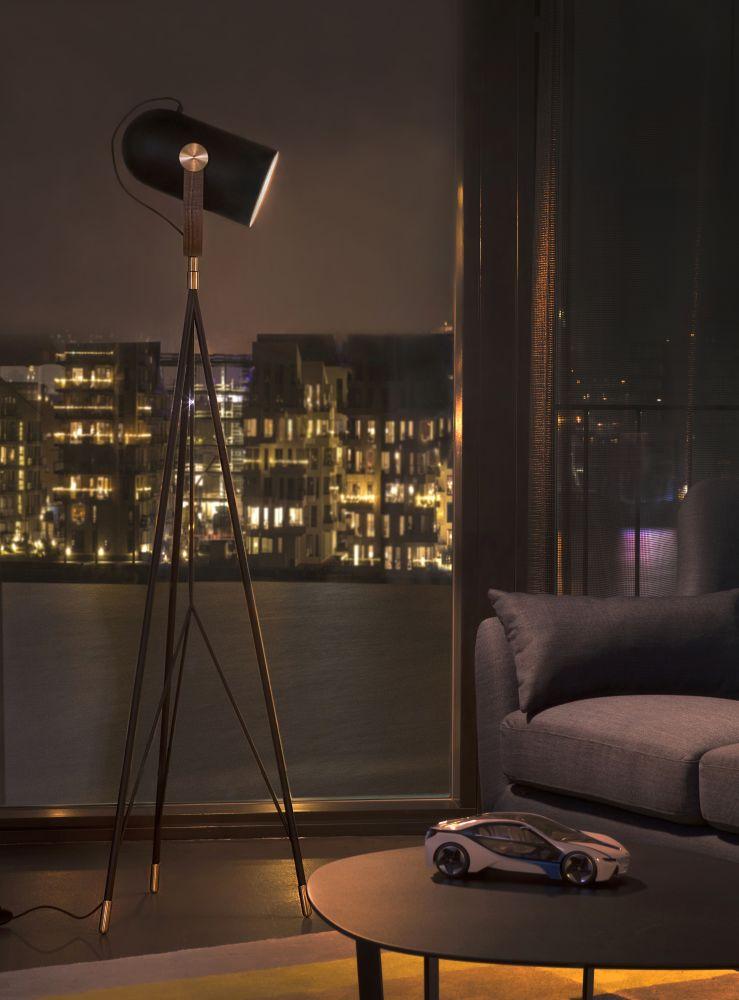 Carronade High Floor Lamp Black by Markus Johansson for Le Klint