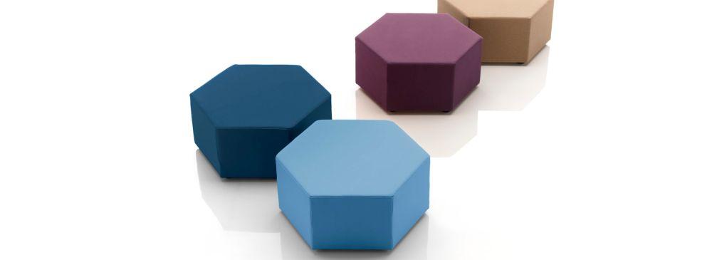Esa Hexagonal Pouf by B-LINE
