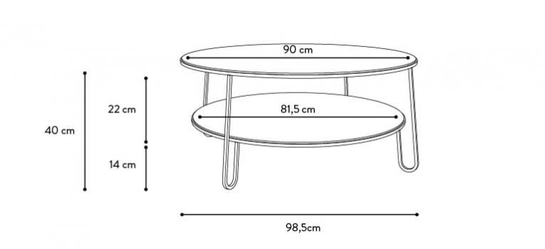 Eugenie Coffee Table by HARTÔ