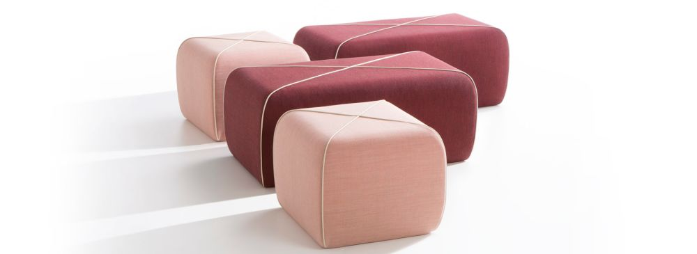 Crossed Pouf - Rectangular by B-LINE