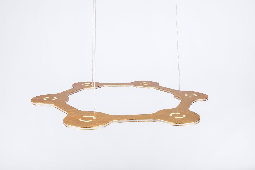 Flat Ring Pendant Light by Lumen Center Italia