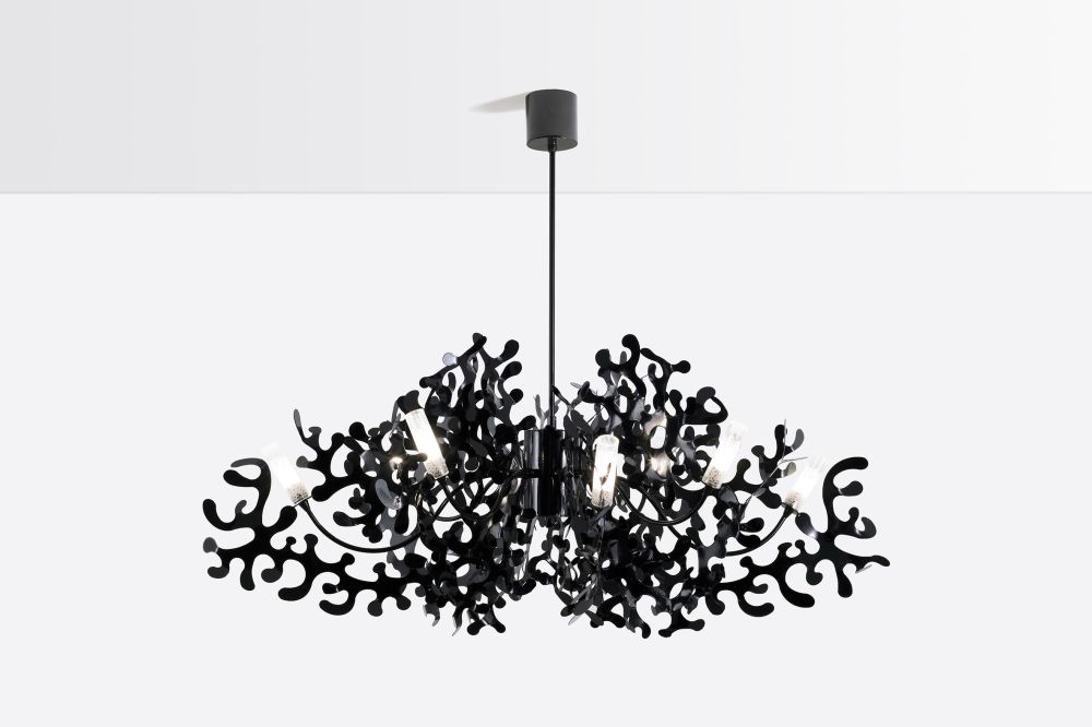 Coral pendant light 112 glossy black by lumen center italia mozeypictures Image collections