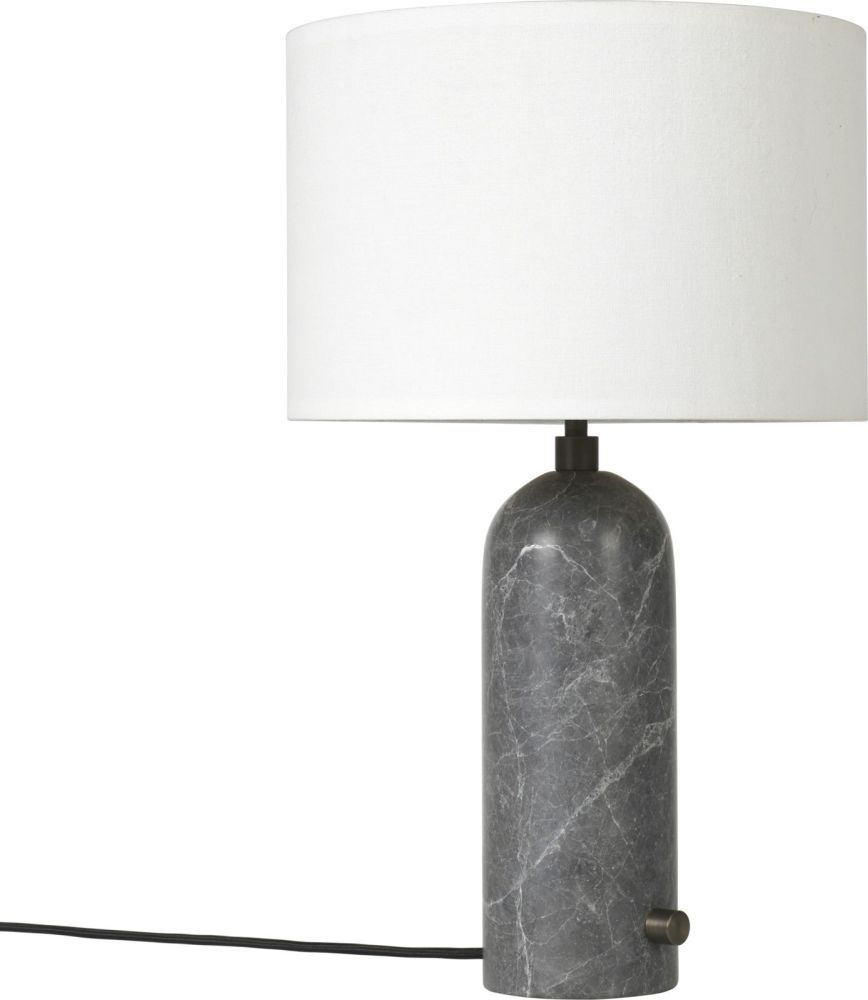 Gravity table lamp small white grey marble by gubi aloadofball