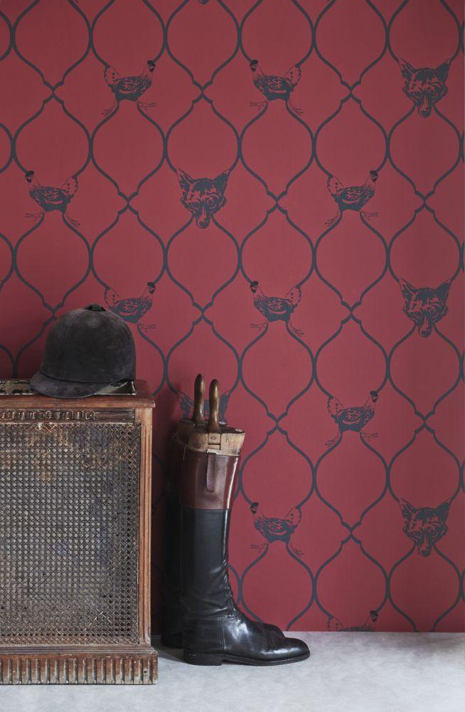 Fox & Hen Wallpaper  by Barneby Gates