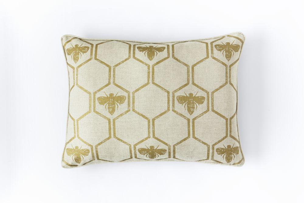 Honey Bees Cushion  by Barneby Gates