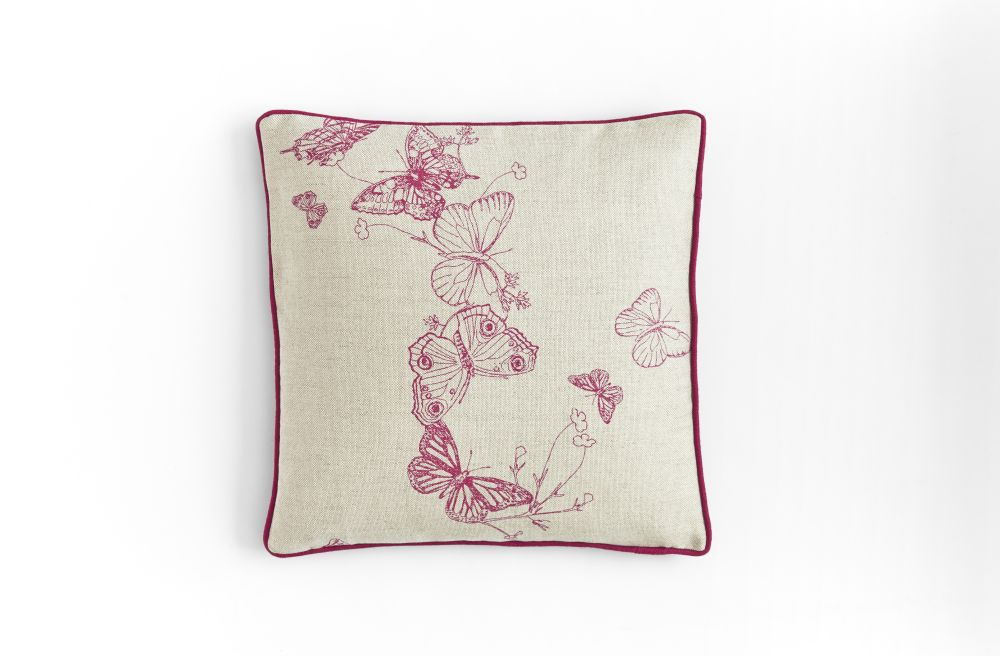 Bugs & Butterflies Cushion  by Barneby Gates