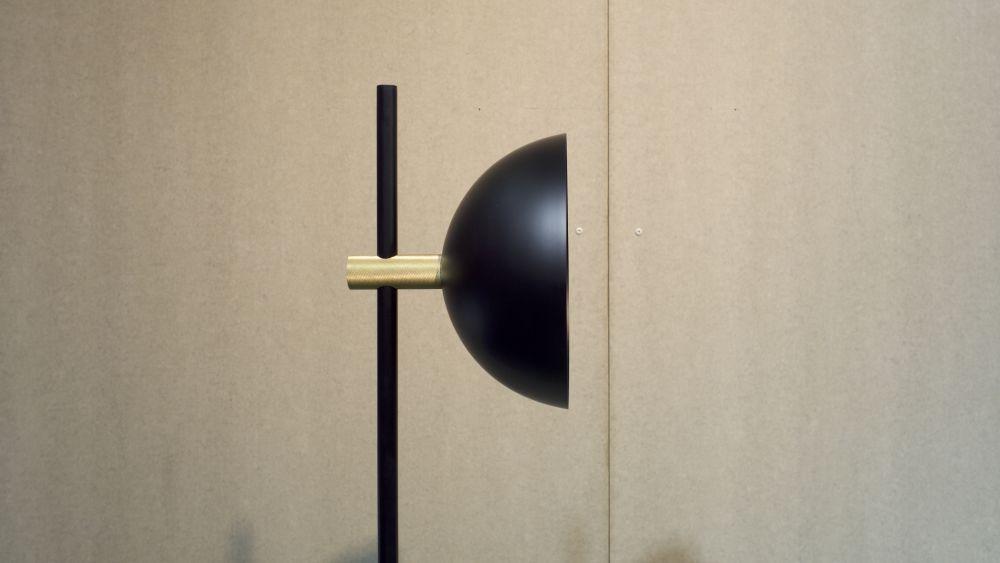Studio Floor Lamp, Brass Detials