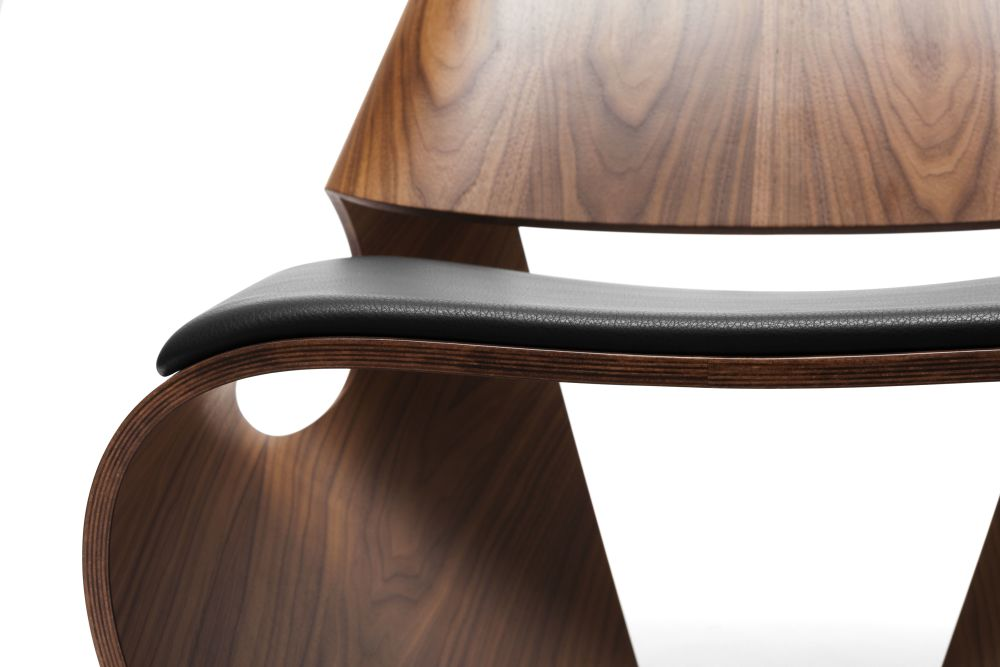 Cowrie Leather Occasional Chair by Made in Ratio