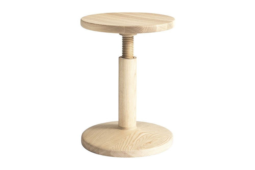 All Wood Bobbin Stool by Hem