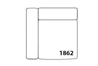 Mags Corner Modular Seating Element 1862 - Left by Hay