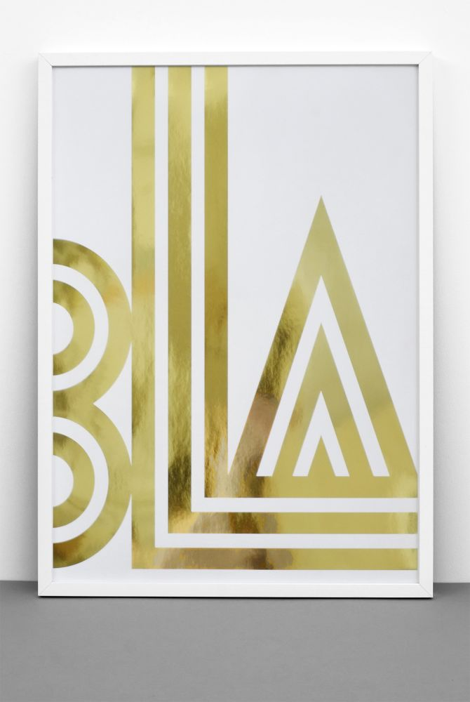 Gold Foil BLA / SMALL TALK print by One Must Dash