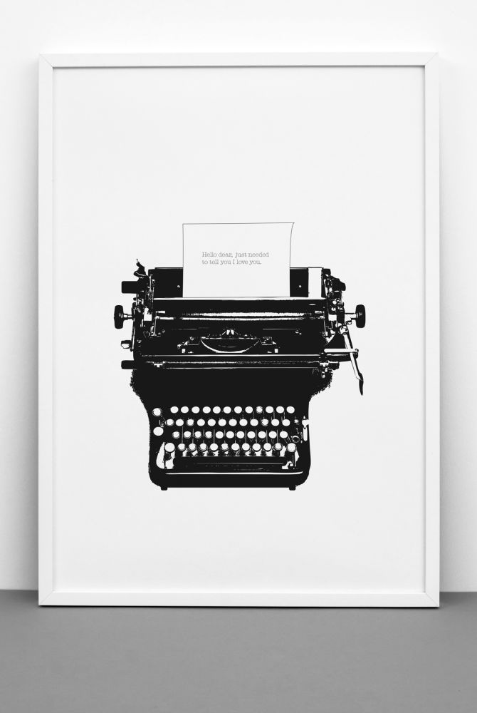 TYPED LOVE print by One Must Dash