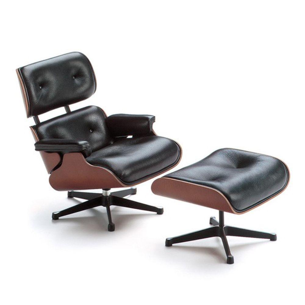 Miniature Lounge Chair & Ottoman by Vitra