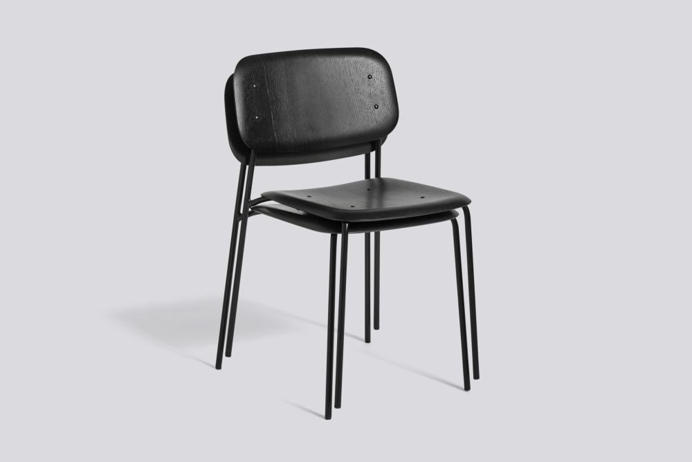 Soft Edge 10 Dining Chair with Metal Frame by Hay