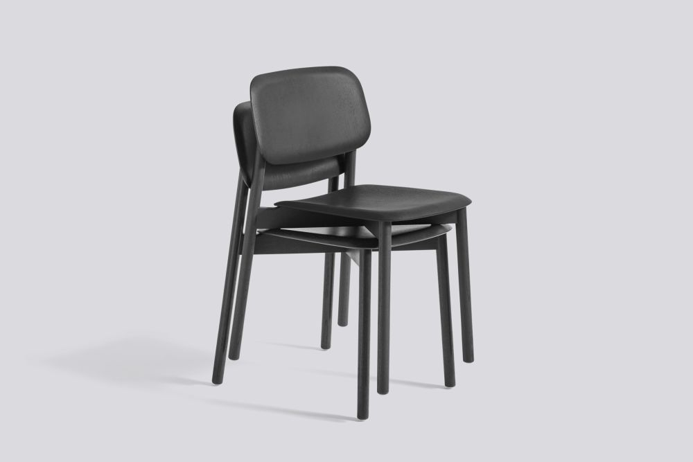 Soft Edge 12 Dining Chair with Wood Frame by Hay