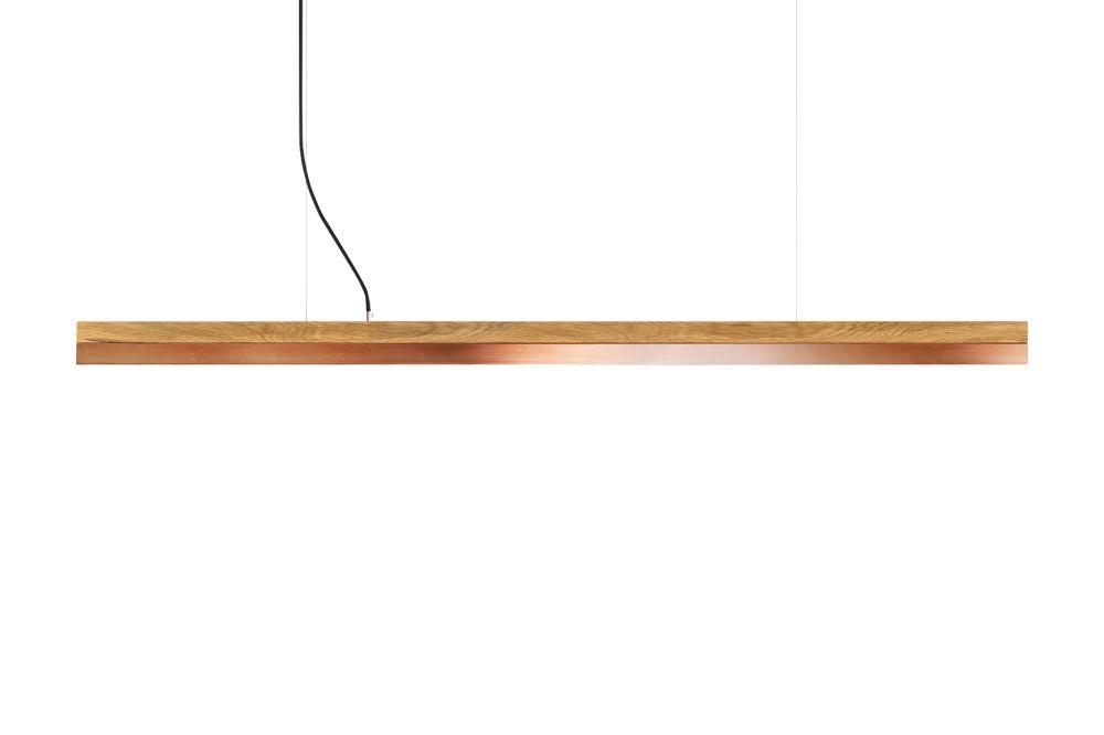 [C] Oak Wood & Copper Pendant Light (92cm, 122cm or 182cm) by GANTlights