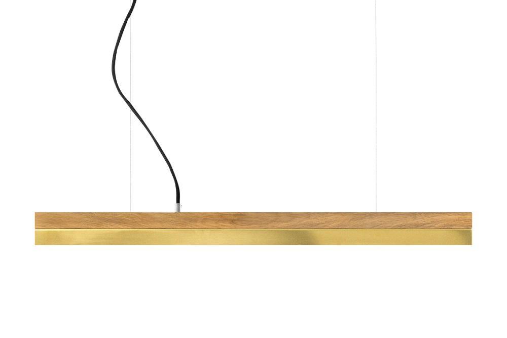 [C] Oak Wood & Brass Pendant Light (92cm, 122cm or 182cm) by GANTlights