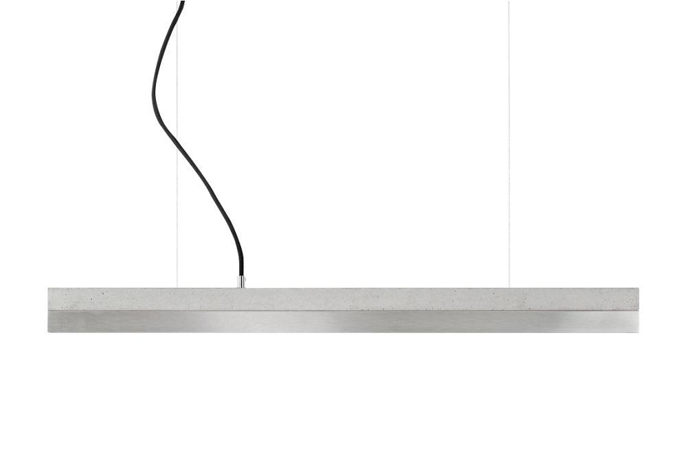[C] Concrete & Stainless Steel Pendant Light (92cm or 122cm) by GANTlights