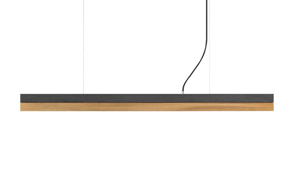 [C] Concrete & Oak Pendant Light (92cm or 122cm) by GANTlights