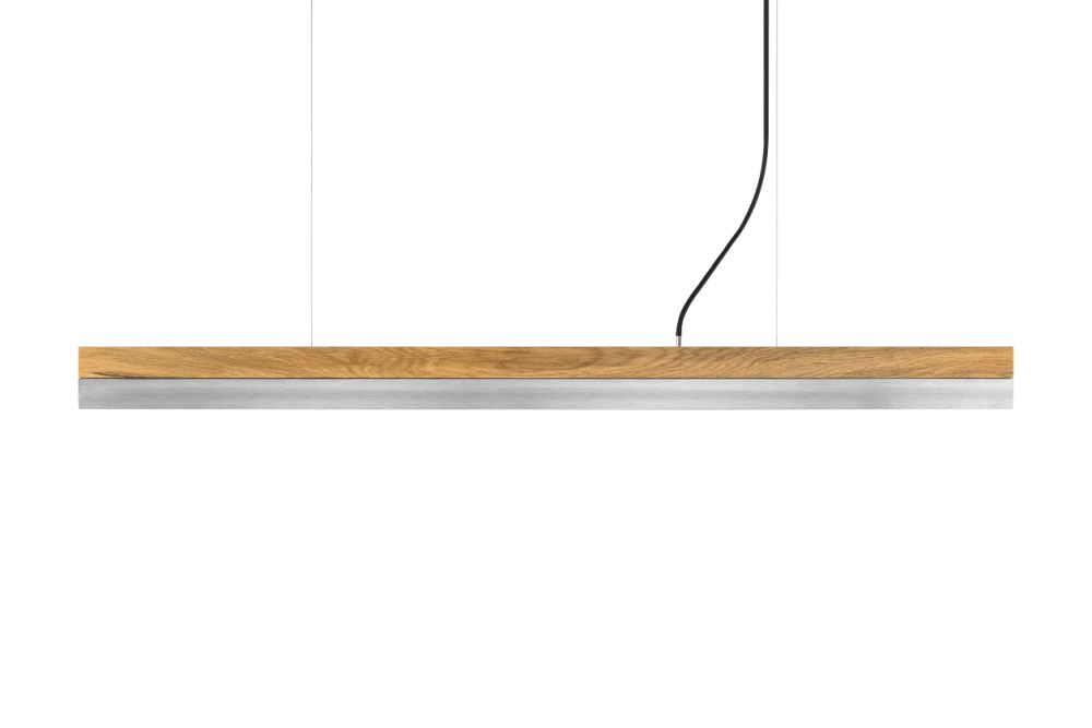 [C] Oak Wood & Stainless Steel Pendant Light (92cm, 122cm or 182cm) by GANTlights