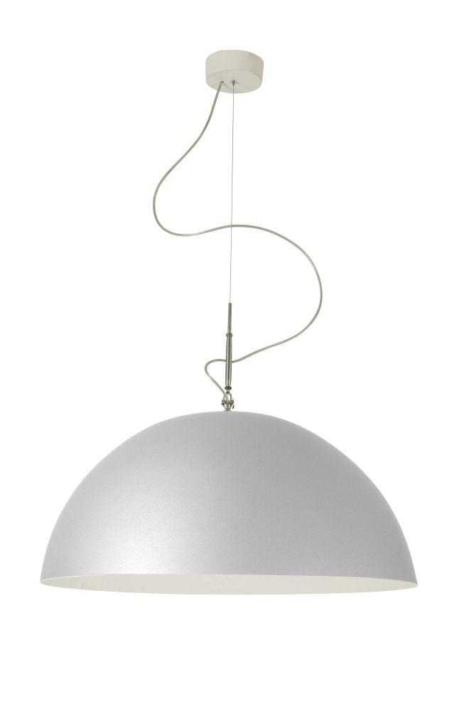 Mezza Luna Silver Pendant Light by in-es.artdesign