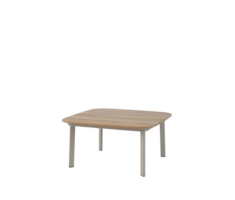 Shine Coffee Table with Teak Top by EMU