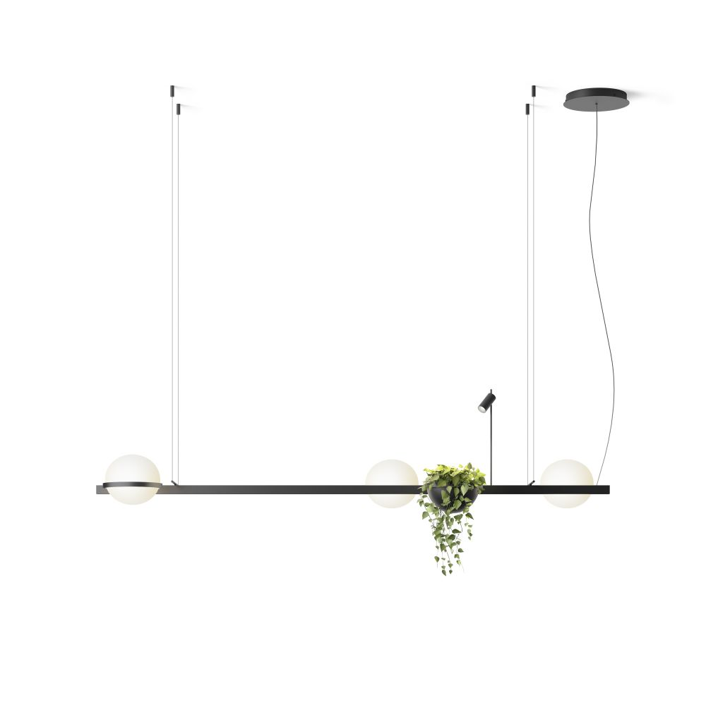 Palma 3736 Pendant Light With Planter by Vibia